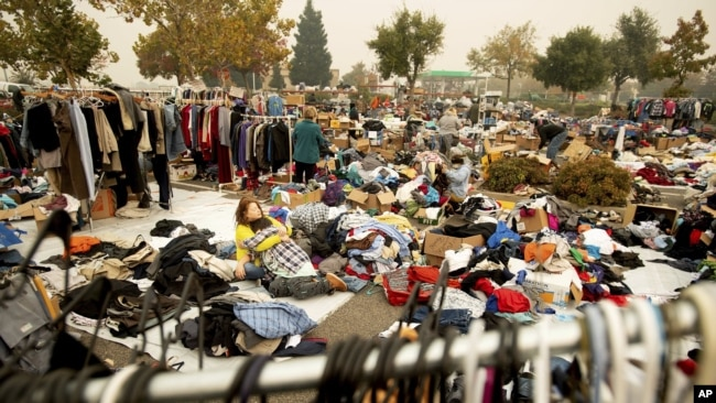 Refugio improvisado en Chico, California, el miércoles 14 de noviembre de 2018.