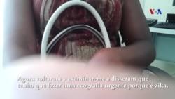 Mulher grávida com zika em entrevista à VOA, na cidade da Praia em Cabo Verde