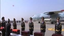 68 名志願軍遺體從南韓運回中國