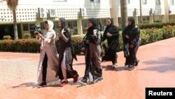 Etudiantes en cinéma dans une université de Djeddah, en Arabie Saoudite, le 7 mars 2018.