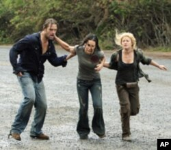 Making a run to leave the island in the final episode of 'Lost.""