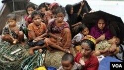 버마 소수계 로힝야족 피난민들. (자료사진)
