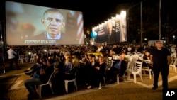 Tổng thống Obama nói chuyện qua video với hàng chục ngàn người Israel tưởng niệm ông Rabin vào ngày thứ Bảy tại Tel Aviv.