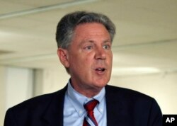 FILE - Rep. Frank Pallone, Jr. speaks in Trenton, N.J., June 10, 2013.