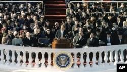 肯尼迪总统在国会大厦发表就职演说