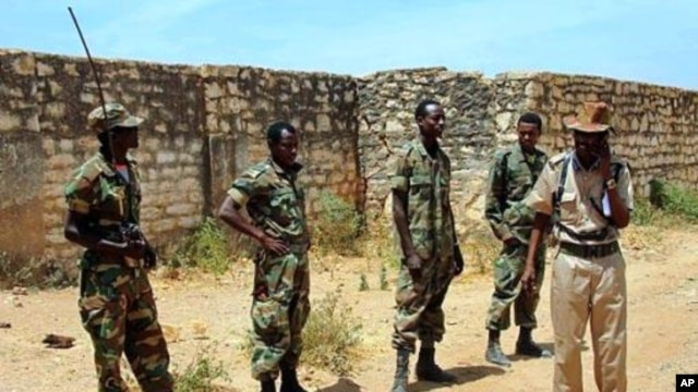 Ethiopian soldiers patrol in the town of Baidoa in Somalia (file photo).