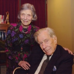 John Kenneth Galbraith with his wife, Kitty.