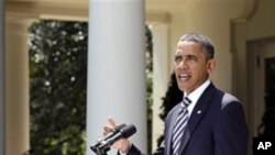 합의안 상원 통과후 연설을 하는 바락 오바마 대통령