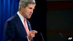 Sakataren Harkokin Wajen Amurka John Kerry yana jawabi kan Siriya rana 26 watan Augusta 2013