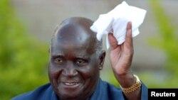 Former Zambian president Kenneth Kaunda