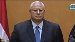 埃及临时领导人宣誓就职
