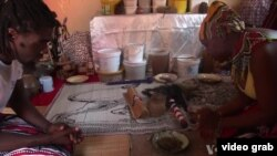A traditional healer at work.