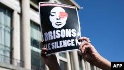 Rassemblement pour dénoncer les fémicides et la violence domestique au Havre, France, 18 septembre 2019. (Lou Benoist/AFP)
