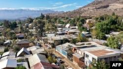 Kawasan kumuh dan miskin Las Canteras, di utara Santiago, saat pandemi virus corona (Covid-19), 22 Mei 2020.