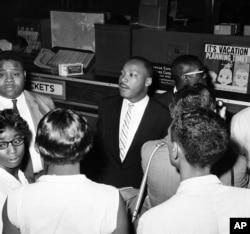 ኪንግ ከፍሪደም ራይደርስ (Freedom Riders) ጋር እአአ 1961
