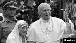 Papa Yohani Paulo wa Kabiri Mama Teresa