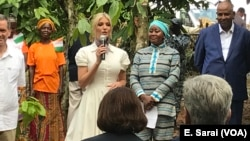 Ivanka Trump announced a $2 million investment in women in the Ivory Coast cocoa industry, April 17, 2019.
