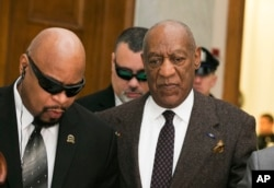 FILE - Actor and comedian Bill Cosby arrives for a court appearance in Norristown, Pennsylvania, Feb. 3, 2016.
