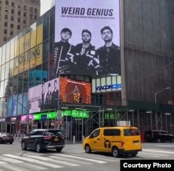 Weird Genius di papan Billboard Time Square, New York (courtesy: @weird.genius).