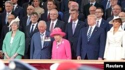 Shugaban Amurka Donald Trump a taron shugabannin duniya a birnin Portmouth