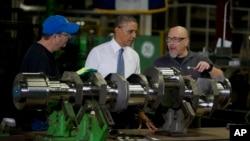 Prezident Obama Viskonsin shtatidagi zavodda