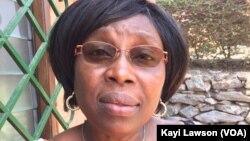 Gislaine Saïzonou Broohm, présidente du cadre de concertation de la mutualité au Togo, à Lomé, le 17 mars 2017. (VOA/Kayi Lawson)