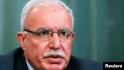 Menteri Luar Negeri Palestina Riad Malki (foto: dok).