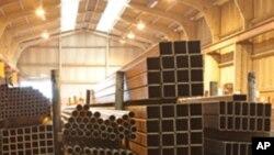 미국의 철강재 생산업소 (자료사진)