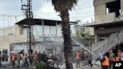 ေမလအတြင္ းSyria ႏိုင္ငံ Homs ျမိဳ႕တြင္ေပါက္ကြဲမႈျဖစ္စဥ္