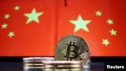 中国国旗与比特币