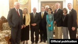 Democracy Partnership Committee နဲ႔ ႏိုင္ငံျခားေရး ၀န္ၾကီး ေဒၚေအာင္ဆန္းစုၾကည္တို႔ ေတြ႔ဆံု(ဓါတ္ပံု-Ministry of Foreign Affairs Myanmar)