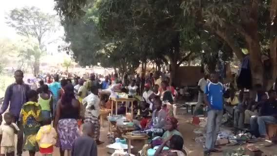 Les Réfugiés de Boy-Rabe au nord de Bangui