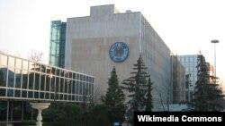 스위스 제네바의 세계지적재산권기구 WIPO 본부 건물. (자료사진)