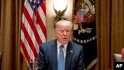 El presidente Donald Trump pidió a los demócratas de la Cámara de Representantes que procedan rápido con el juicio político.