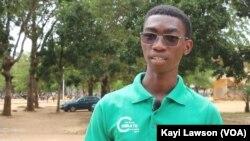 Benjamin Kogblé, Lomé, le 13 novembre 2019. (VOA/Kayi Lawson)