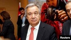 Kepala badan urusan pengungsi PBB (UNHCR) Antonio Guterres mengimbau dana $8,4 miliar untuk pengungsi Suriah (foto: dok).
