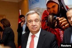 FILE - United Nations High Commissioner for Refugees (UNHCR) Antonio Guterres.