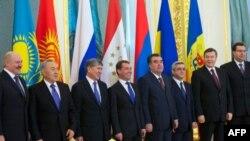 Участники саммита ЕврАзЭС в Москве