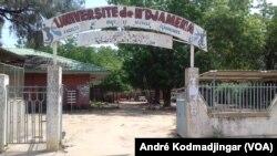 Perturbation des cours dans les campus université de N'Djamena, le 10 février 2020. (VOA/André Kodmadjingar).