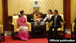 ေဒၚေအာင္ဆန္းစုၾကည္ တရုတ္ႏုိင္ငံခရီးစဥ္ တရုတ္ထိပ္တန္းေခါင္းေဆာင္ေတြနဲ႔ေတြ႔ဆံု။ သတင္းဓာတ္ပံု-NLD Chairperson။