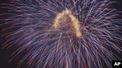 4일 워싱턴에서 펼쳐진 독립기념일 불꽃놀이.