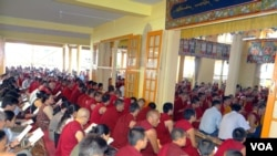 Tibetans gathered at Tsulagkhang Temple in Dharamsala to pray for late Tsewang Dorjee who died after his self-immolation