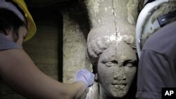 Sculptures Found in Unexplored Ancient Greek Tomb