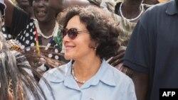 Leila Zerrougui, en visite au Soudan du Sud, le 23 juin 2014.