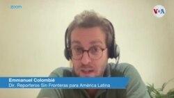 """Emmanuel Colombié: El panorama de la libertad de prensa en América Latina """"es bastante sombrío"""""""