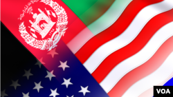 Afghanistan US Russia and China Flags