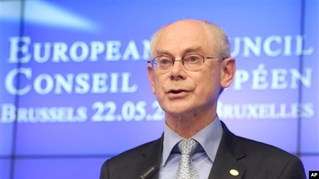 European Council President Herman Van Rompuy  in Brussels on May 22, 2013