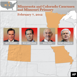 Santorum Leading in Minnesota Caucus, Missouri Primary