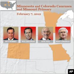 Santorum Leading in Minnesota Caucus, Missouri Primary
