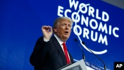 Predsjednik Tramp na Svjetskom ekonomskom forumu u Davosu, 26. januar 2018.